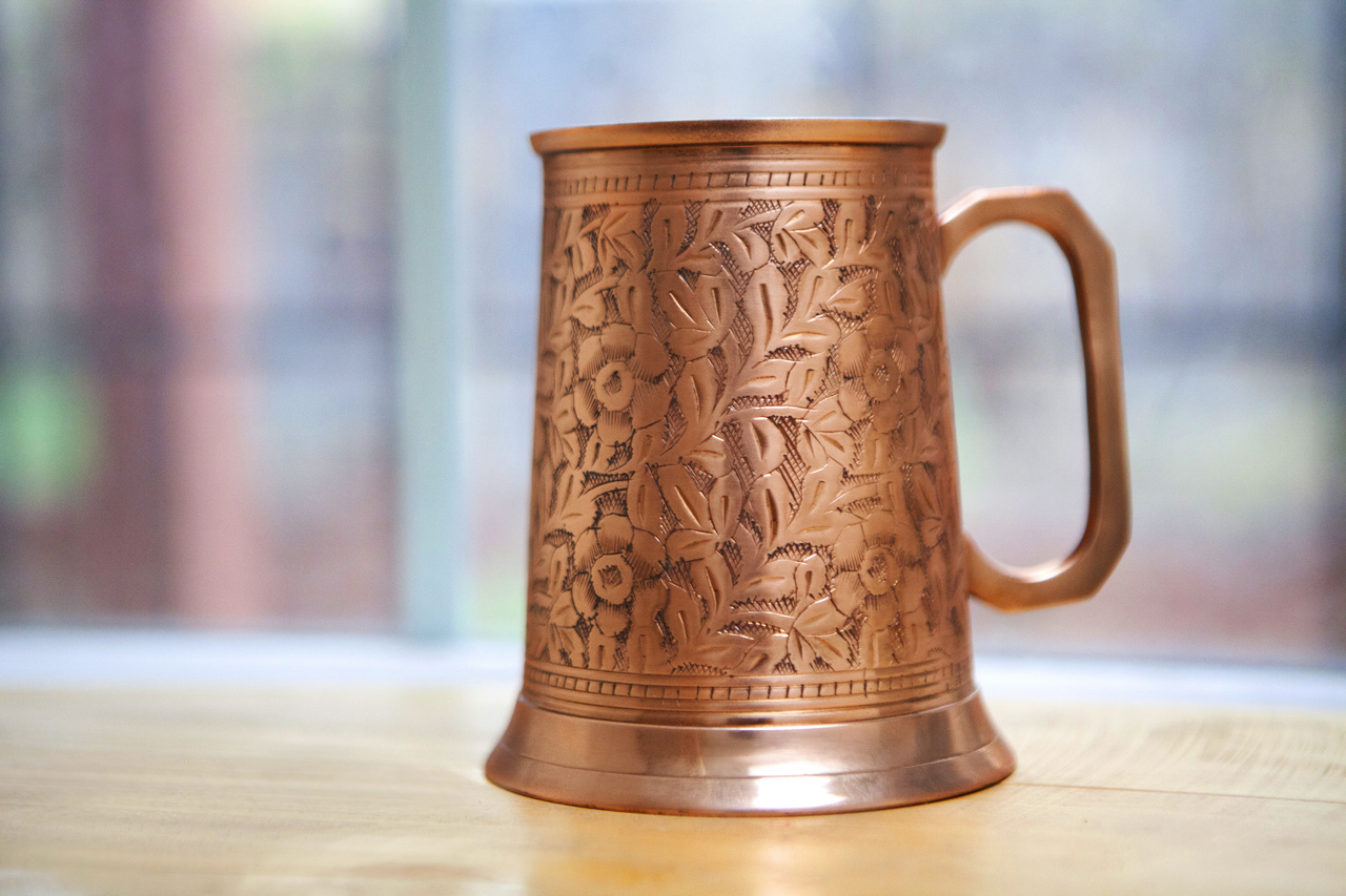 Engraved Copper Stein